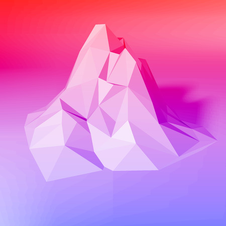 Gradient abstract low-poly, polygonal triangular mosaic elevation background for web, presentations and prints. Vector illustration. Realistic 3D render design template. Ilustrace