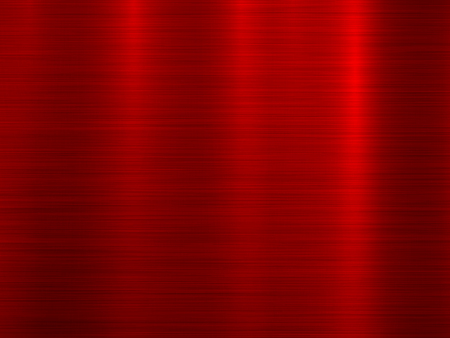 Red metal abstract technology background with polished, brushed texture, chrome, silver, steel for design concepts, wallpapers, web, and prints. Vector illustration.