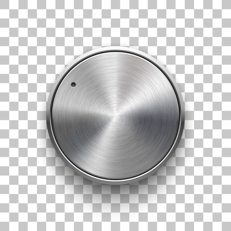 Audio volume knob, technology music button template, with metal circular brushed texture Reklamní fotografie - 96922383