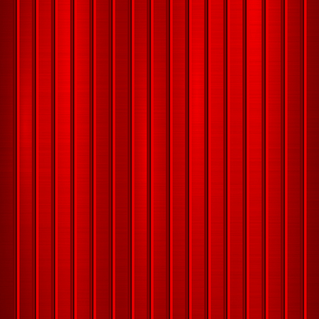 Red metal technology background with polished, brushed texture, chrome, silver, steel, aluminum and vertical bevels for design concepts, web, prints, wallpapers and interfaces. Vector illustration. Ilustrace