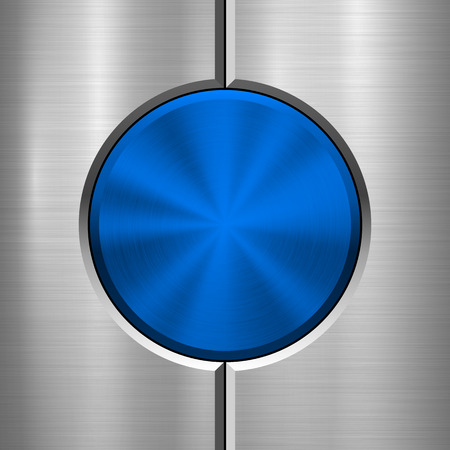 Metal technology background with abstract circle bevels and polished, brushed texture, chrome, silver, steel, aluminum for design concepts, web, prints, wallpapers, interfaces. Vector illustration. Reklamní fotografie - 99037562