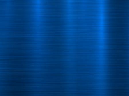 Fondo horizontal de tecnología de metal azul con textura pulida y cepillada, cromo, plata, acero, aluminio para conceptos de diseño, fondos de pantalla, web, impresiones e interfaces. Ilustración vectorial