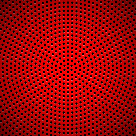 Red abstract technology background with seamless circle perforated speaker grill texture for web sites, user interfaces (UI), applications (apps) and business presentations. Vector illustration. Ilustrace