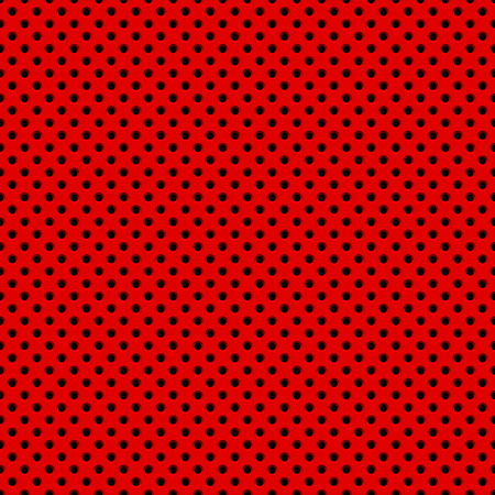 Red abstract technology background with seamless circle perforated speaker grill texture for web, user interfaces, UI, applications, apps, business presentations and prints. Vector illustration. Ilustrace