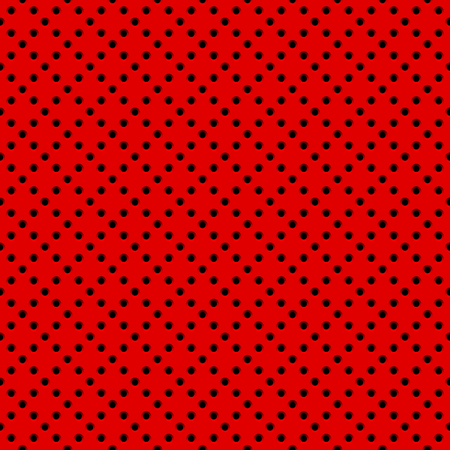 Red abstract technology background with seamless circle perforated speaker grill texture for web, user interfaces, UI, applications, apps, business presentations and prints. Vector illustration. Reklamní fotografie - 99479685