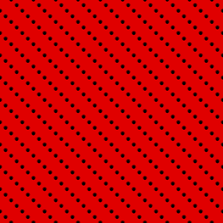 Red abstract technology background with seamless circle perforated speaker grill texture for web, user interfaces, UI, applications, apps, business presentations and prints. Vector illustration. Illustration