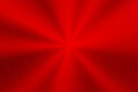 デザインコンセプト、ウェブ、ポスター、壁紙、プリント用に、磨かれた、ブラシをかけられた円形の同心円のテクスチャ、クロム、銀、鋼鉄を持つ赤い金属技術の背景。ベクターの図。 写真素材 - 101301670