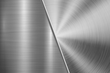 Metal technology background with circular and straight polished, brushed texture, chrome, silver, steel, aluminum for design concepts, wallpapers, web and prints . Vector illustration