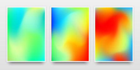 Poster templates, banners mock-up with colorful gradient backgrounds and realistic shadow for design concepts, presentations, identity, web and prints. Vector illustration.