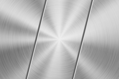 Metal technology background with circular polished, brushed texture, chrome, silver, steel, aluminum for design concepts, wallpapers, web and prints . Vector illustration Ilustrace