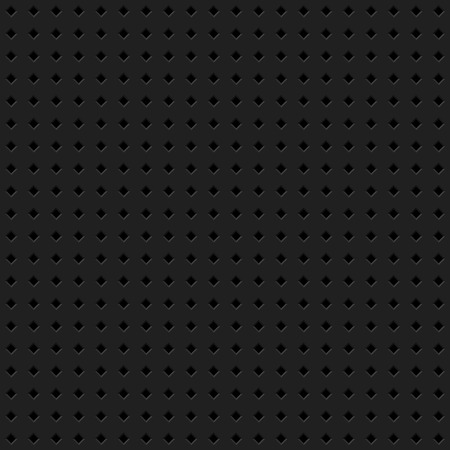 Black abstract technology background with seamless rhomb perforated speaker grill texture for web, user interfaces, UI, applications, apps, business presentations and prints. Vector illustration.