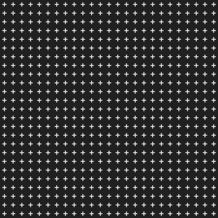 Black abstract background with seamless random dark crosses for design concepts, posters, banners, web, presentations and prints. Vector illustration.