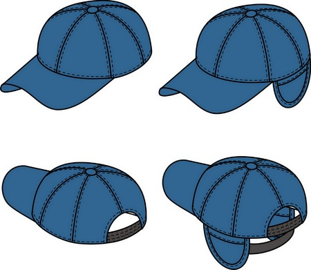 Baseball cap has turning away ears. Vector