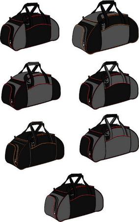 スポーツ バッグは大きな便利なポケットと 2 つの強力なハンドル。