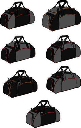The sports bag has the big convenient pockets and two strong handles.