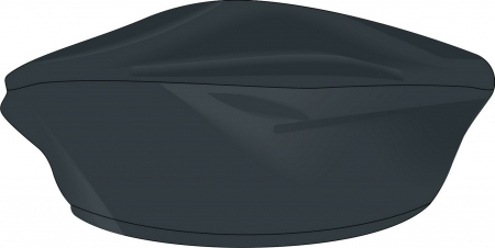 Felt beret of black colour.     Vector