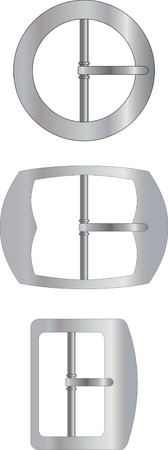 Three kinds of metal buckles Vector