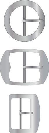 buckles: Three kinds of metal buckles