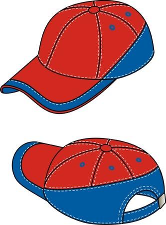 Kepi with a peak and a fastener. Illusztráció