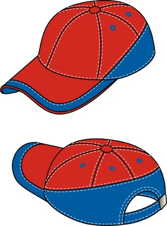 kepi: Kepi with a peak and a fastener. Illustration
