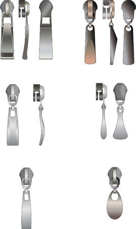fastening: Some kinds metal pullers Illustration