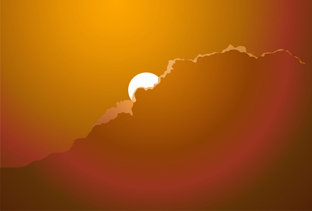 disappears: The sun on a decline disappears for a cloud