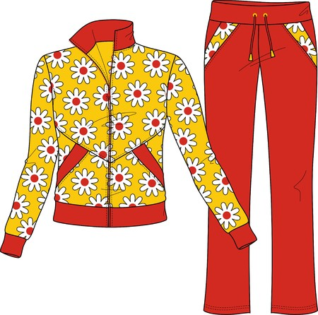 house coats: Suit female knitted for the house Illustration