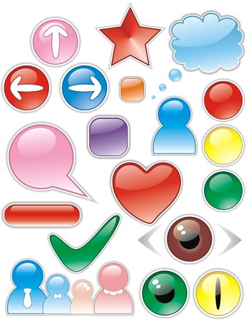 Icons of the various form for web design Vector
