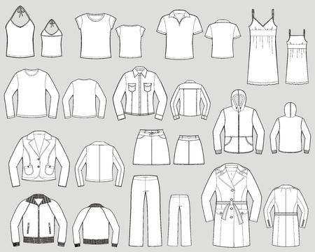 女性のための外側の衣類の様々 な種類