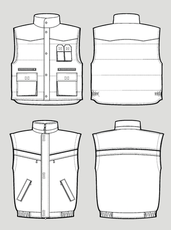 Two kinds of the various warmed waistcoat Stock Vector - 6173495