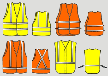 reflective: Four kinds of alarm waistcoats with reflective strips