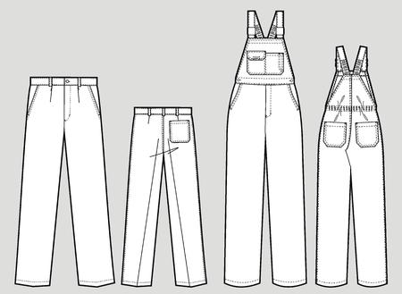 ズボンのポケットと肩のストラップを 2 種類