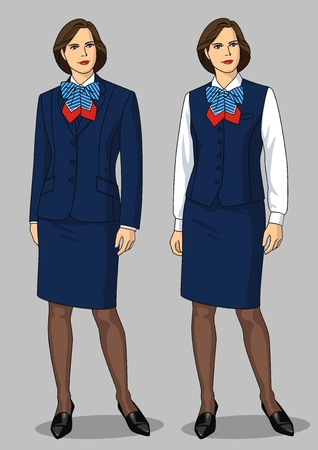 skirt suit: The suit female consists of a jacket, a skirt, a blouse and a bow