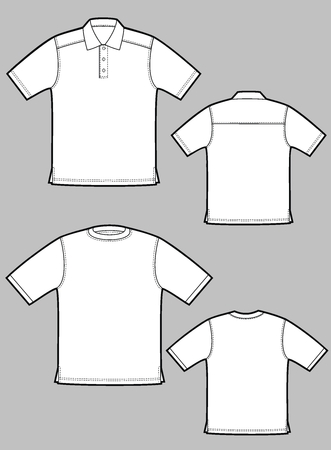 Two kinds of T-shirts with short sleeves