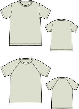 Two kinds of T-shirts with short sleeves Vector