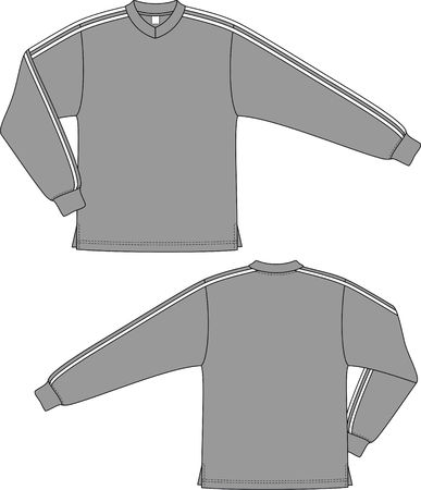 Jacket mans sports with a long sleeve Vector
