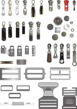 ミシン アクセサリーのいくつかの種類  イラスト・ベクター素材