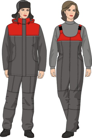 warmed: The suit the female warmed consists of a jacket, trousers and a cap