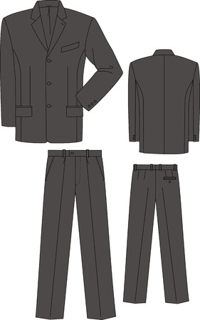 Jacket and trousers for the business man Stock Vector - 7626126