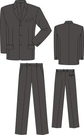 Jacket and trousers for the business man Ilustração Vetorial