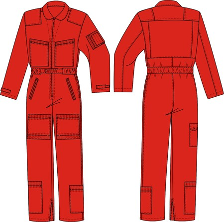 workwear: Overalls for the man summer with a collar and sleeves