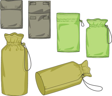 outset: Various kinds of bags of the different form Illustration