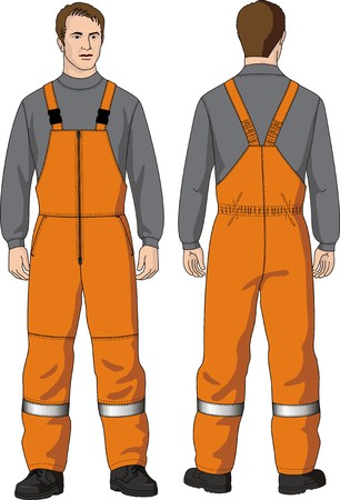 overalls: Overalls for man warmed with pockets