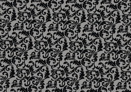 rapport: The black-and-white background consists of a vegetative ornament Illustration