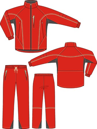 Hose: Anzug Sport, bestehend aus einer Jacke und Hose Illustration