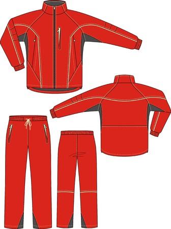 Suitensport, bestaande uit een jas en een broek Vector Illustratie