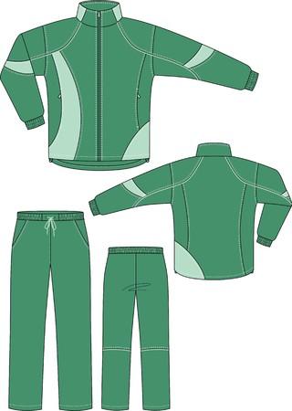 back belt: Traje de deportes, que consiste en una chaqueta y pantal�n