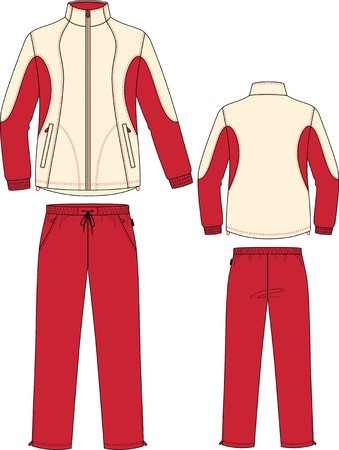 red pants: Suit sports, consisting of a jacket and trousers