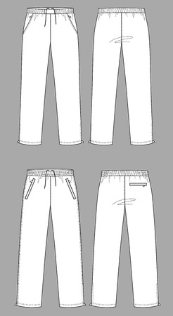 outset: Two kinds of sports trousers with pockets Illustration