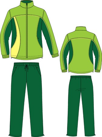Suit sports, consisting of a jacket and trousers